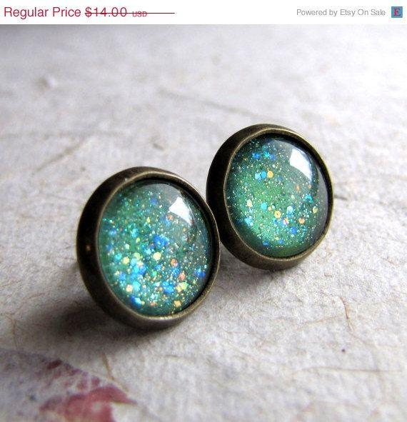 seafoam green earrings