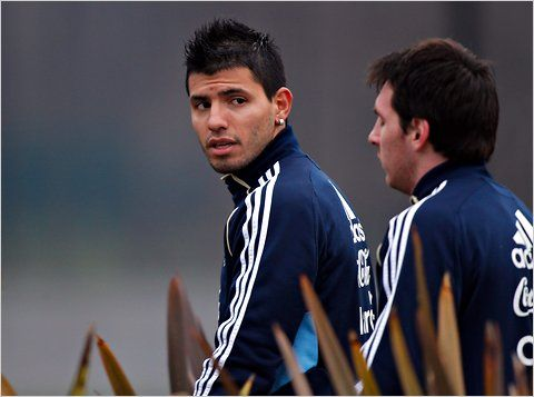 Image result for Lionel Messi with Sergio Aguero