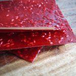 Raw Raspberry Fruit Leather