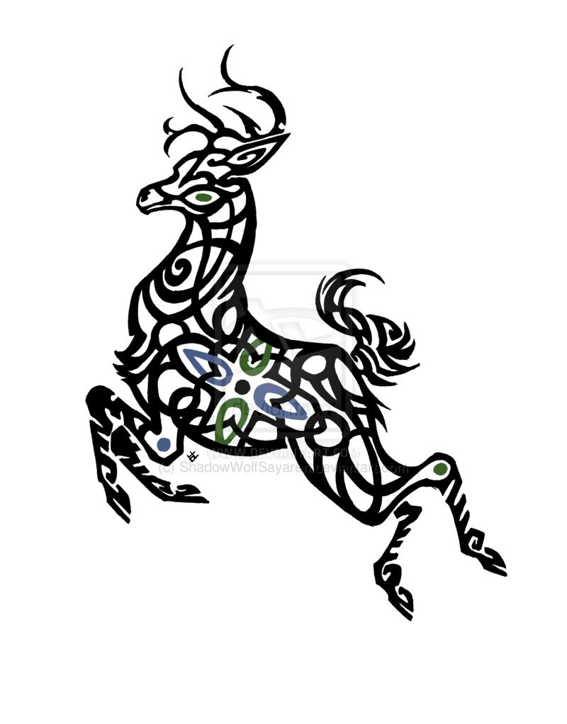 celtic deer comm by on deviantart tattoo pinterest deer tattoo. Black Bedroom Furniture Sets. Home Design Ideas