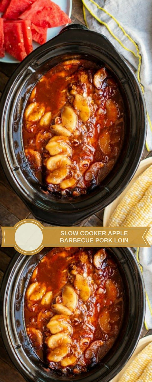 SLOW COOKER APPLE BARBECUE PORK LOIN | Slow cooker apples ...