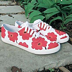 Marimekko Inspired Sneakers made from cheap tennies and sharpies.