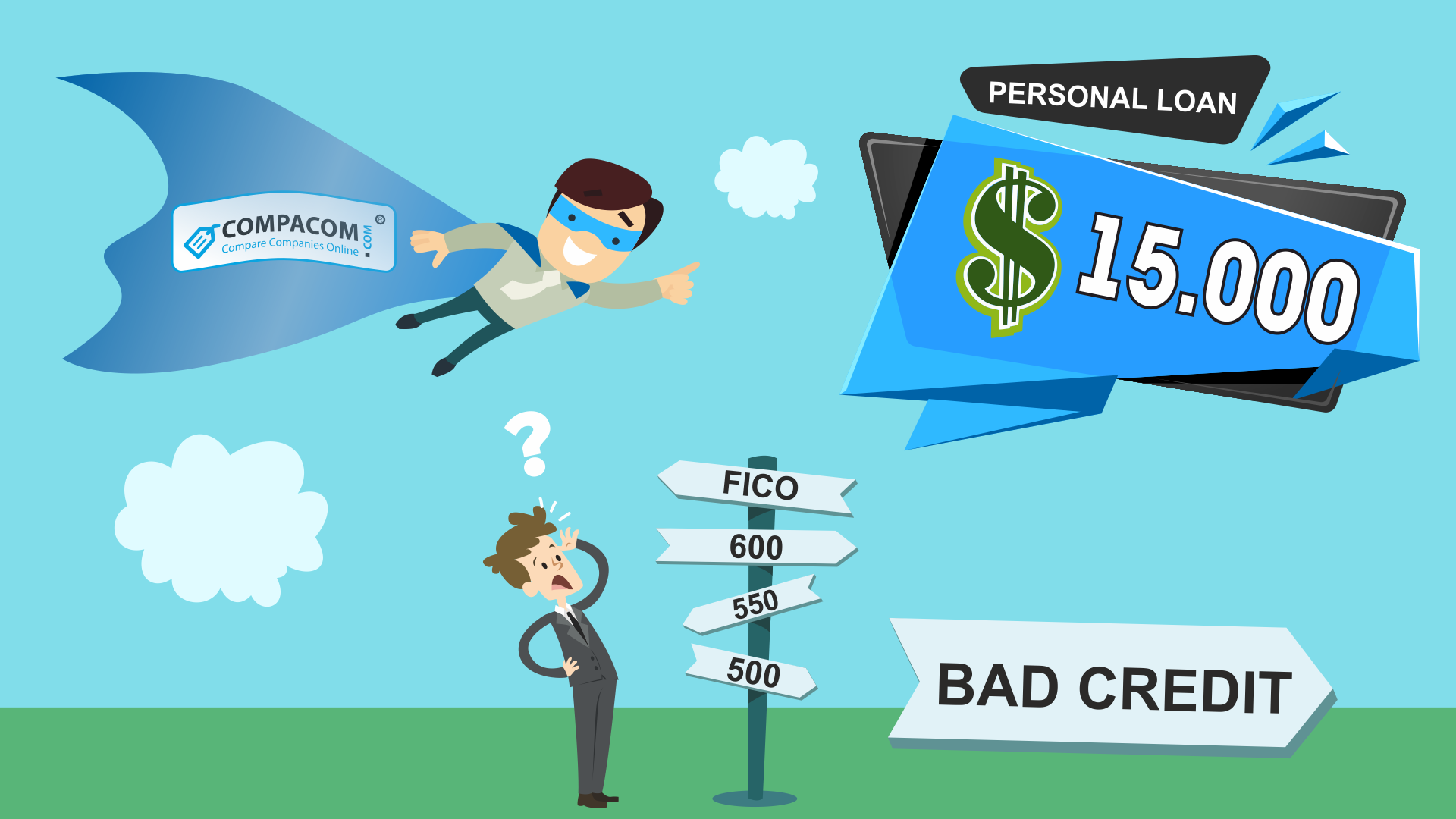 Personal Loan Credit Score 550 >> Bad Credit Which Is Less Than 620 Fico Score Doesn T Stop