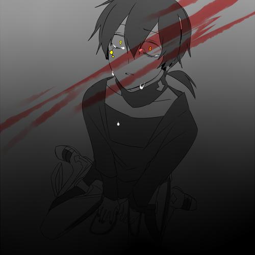 Don't cry Kuroha! *hugs* (Kagerou Project)