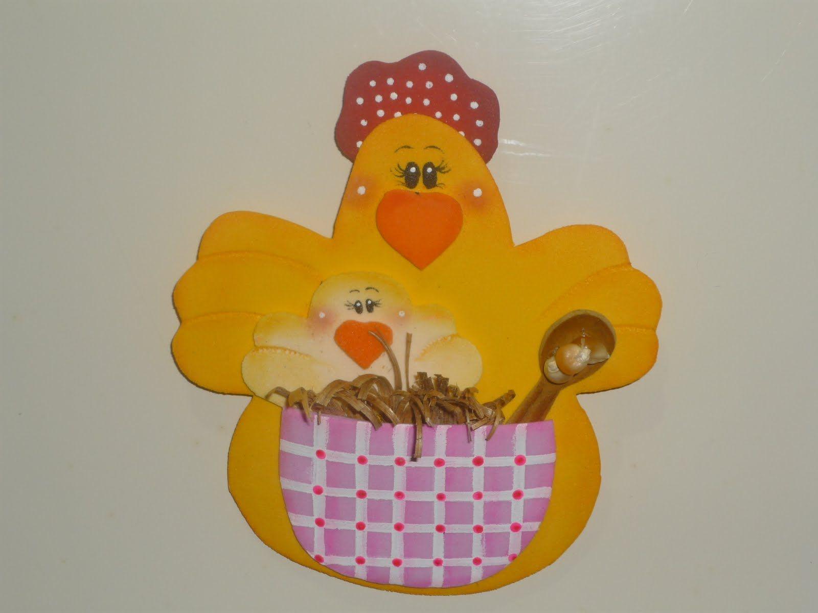 Imanes para neveras | Chicken crafts, Baby mobile, Crafts