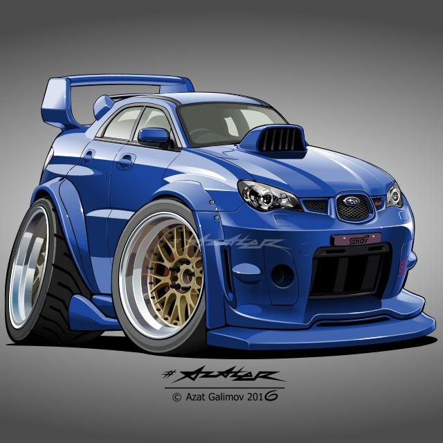 Subaru Impreza WRX STI. Artist-Azater