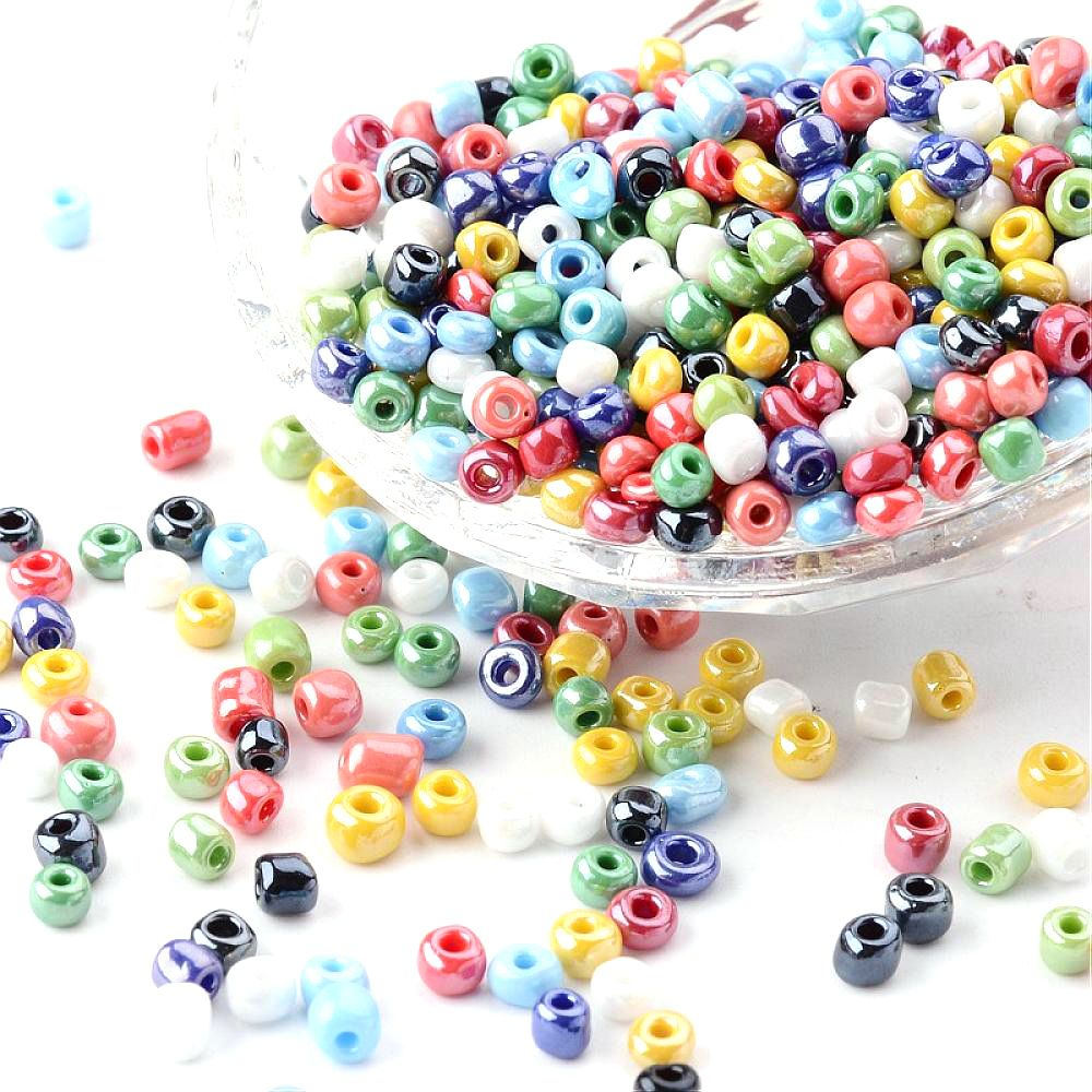 Group of glass seed beads