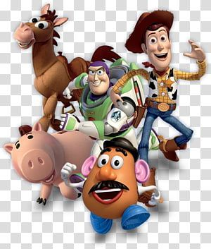 Five Disney Pixar Toy Story Characters Illustration Sheriff Woody Toy Story 3 Buzz Lightyear Pixar Toy Woody Toy Story Toy Story Characters Jessie Toy Story