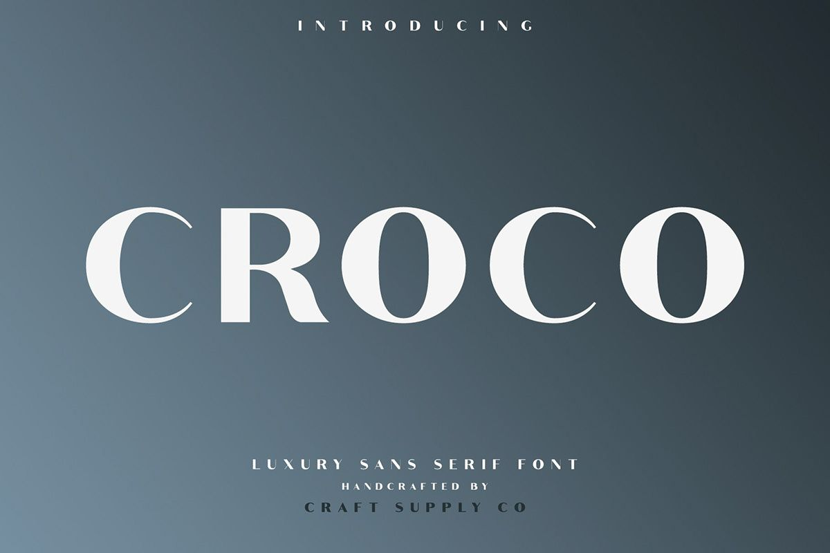 Croco - Font Family (Free Download) on Behance | fonts