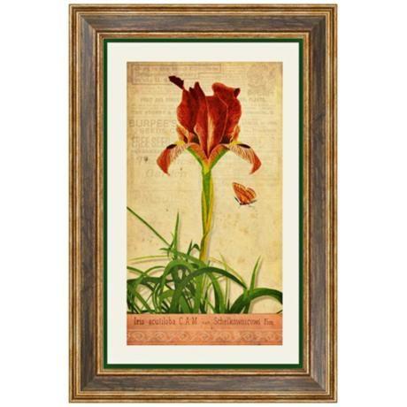 """Iris II 24 1/2"""" High Flower Wall Art - $110, LAMPS PLUS (OFFICE?)"""