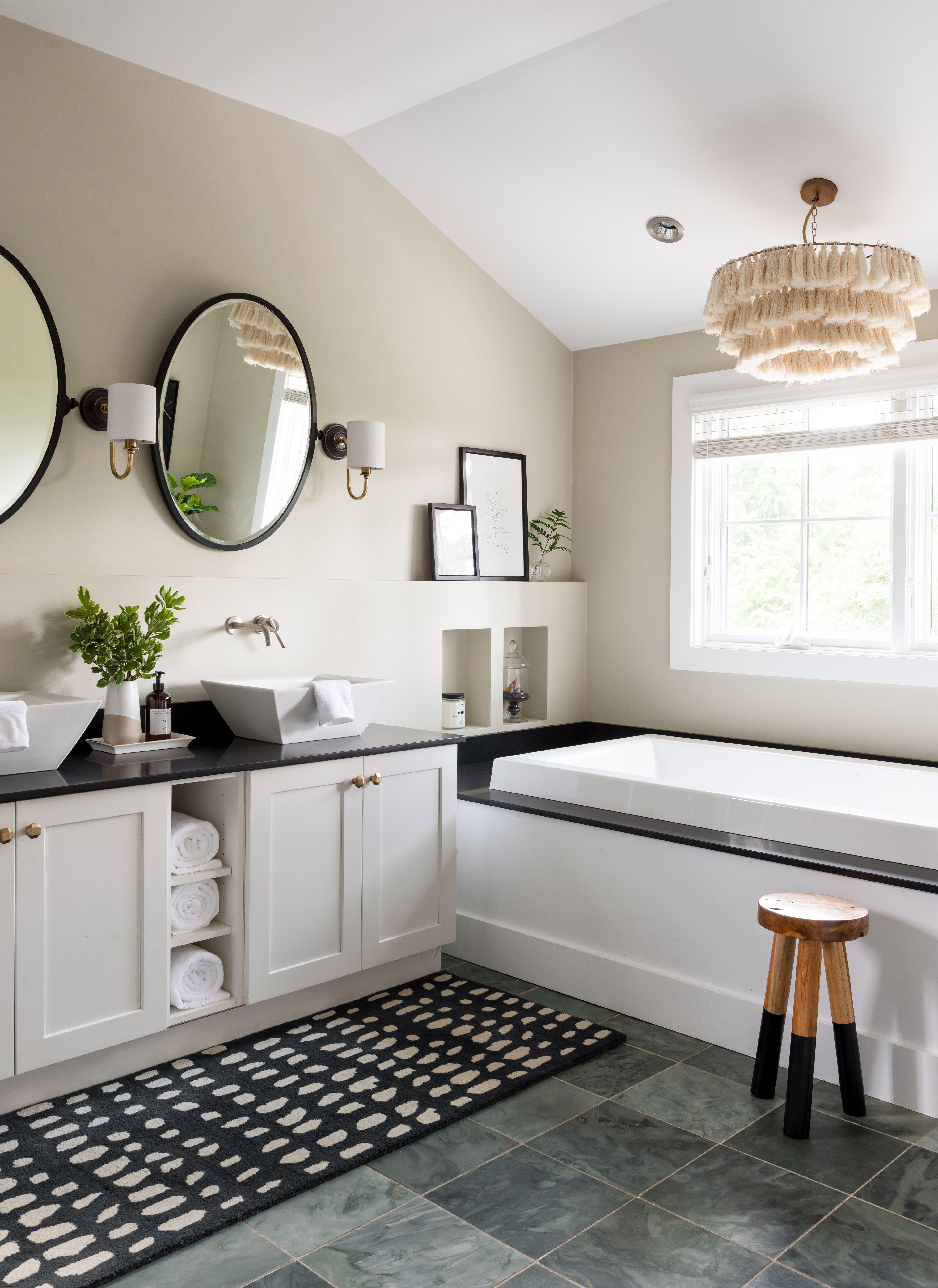 Modern Glam Design Newport Home Tour | White bathroom ...