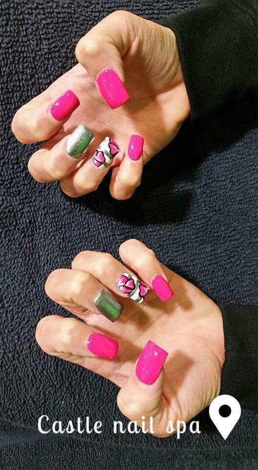 Nail Normal Nail Art Nail Design Castle Nail Acrylic Gel Pink