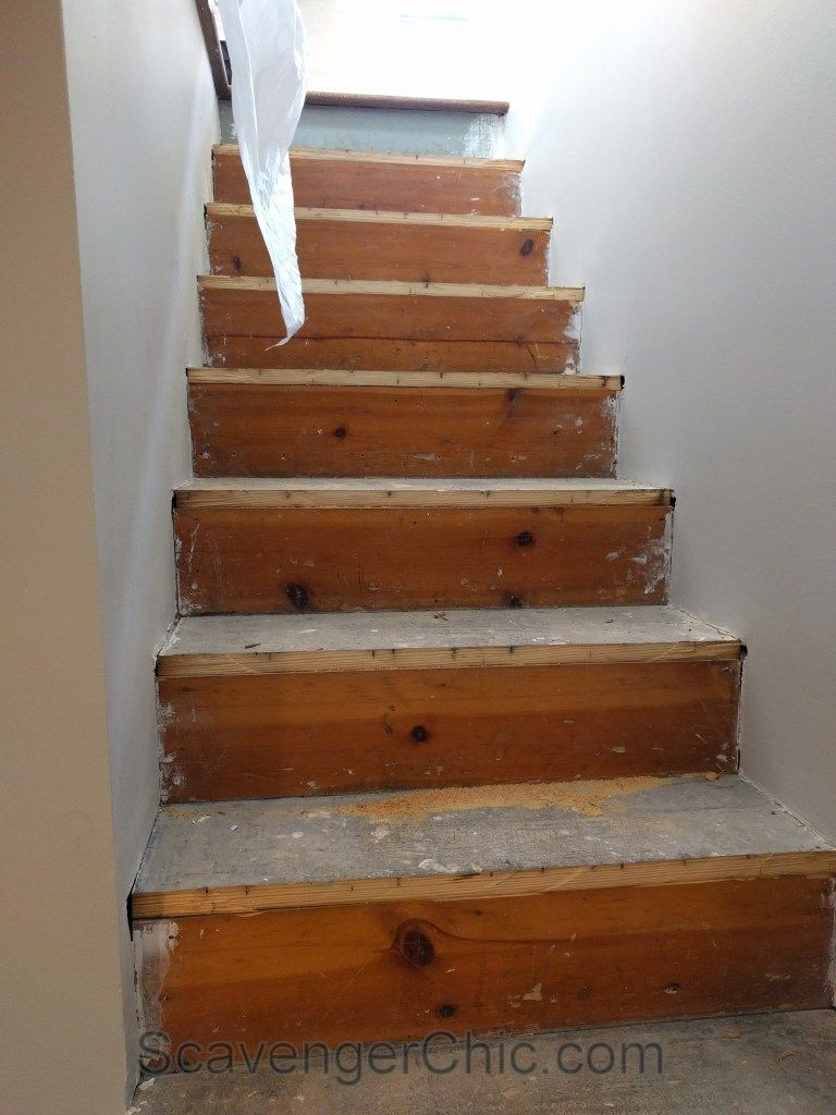 New Treads For Old Stairs, Remodel Reface And Refinish Old Stairs 011