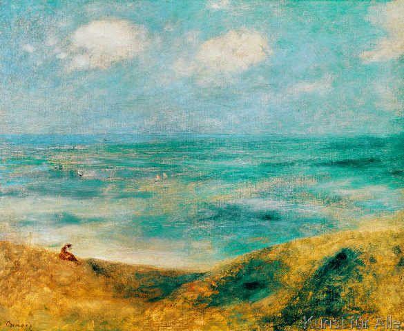 Pierre Auguste Renoir - Au bord de la mer à Guernesy