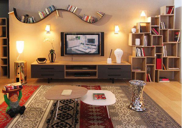 Meuble Tv Television Design Fabrimeuble Fabrique En France Etagere Modulable Murale Mic Mac Fabrimeuble Etagere Ondulee Bo Meuble Tv Mobilier De Salon Meuble