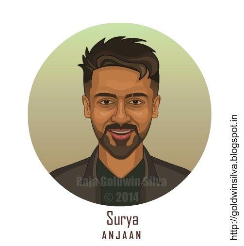 surya #actor #cartoon #caricature #anjaan #tamil #movie #beard