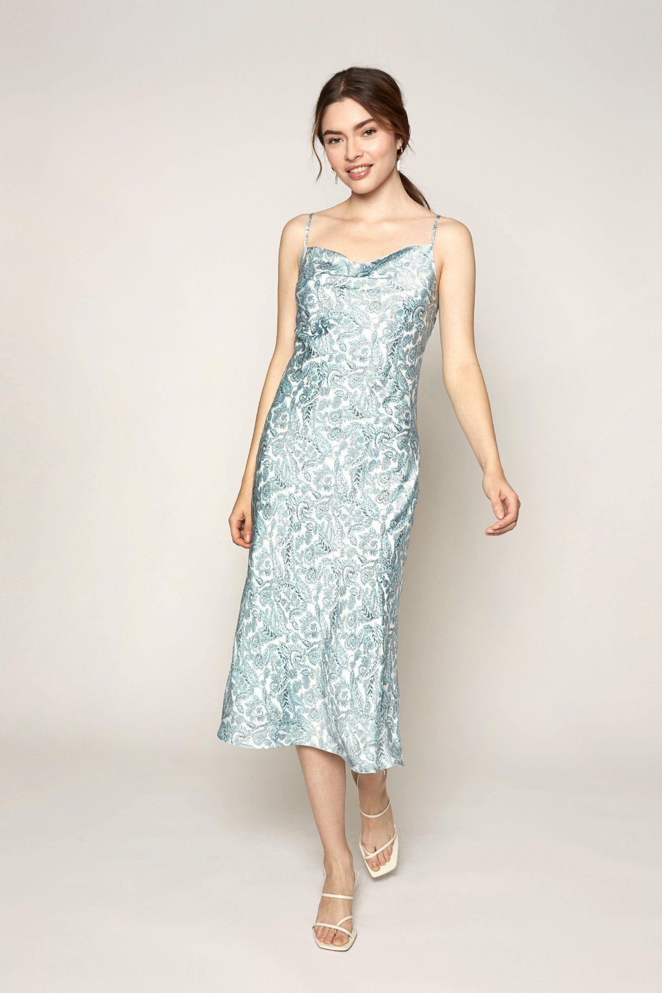 Paisley Slip Dress In 2020 Mid Thigh Dress Dresses Slip Dress