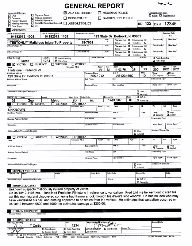 How Ada County Sheriffs Office Automated Departmental Records – Template for Reports