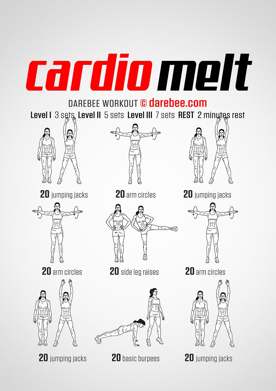 New Workout: Cardio Melt Workout #darebee #workout # ...