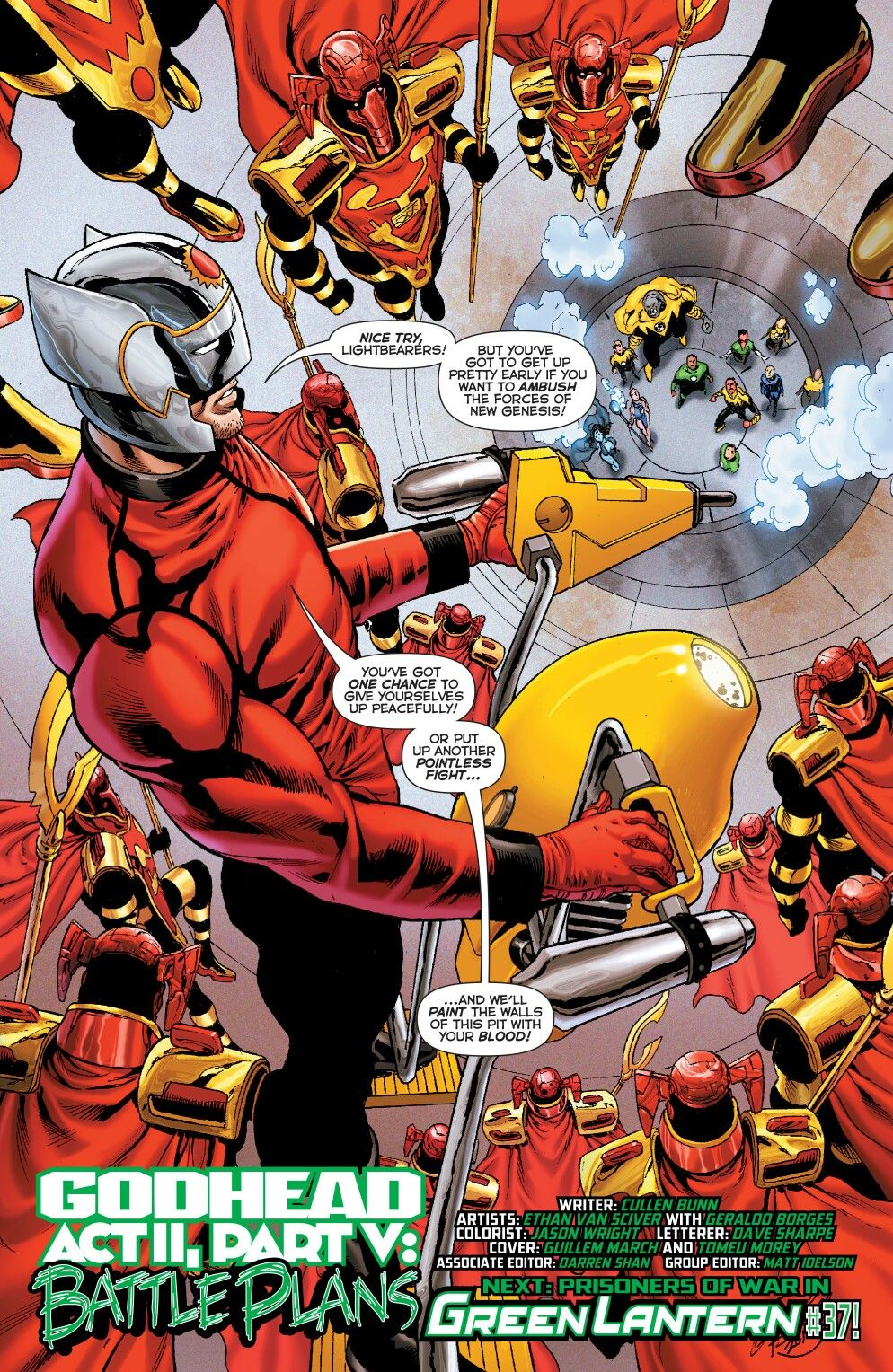 New Gods Orion and the Divine Guard capture Lantern Corps