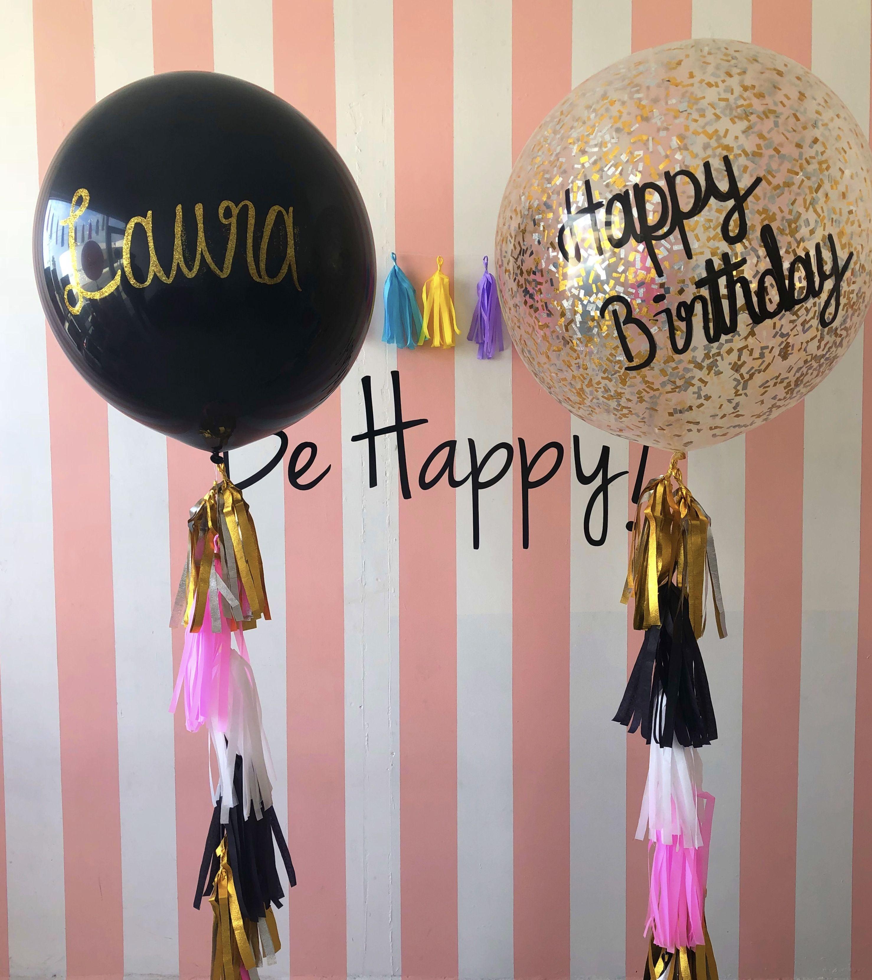 Cumplea os 30 39 s negro rosa y dorado birthday 30 39 s globos for Decoracion de cumpleanos rosa y dorado