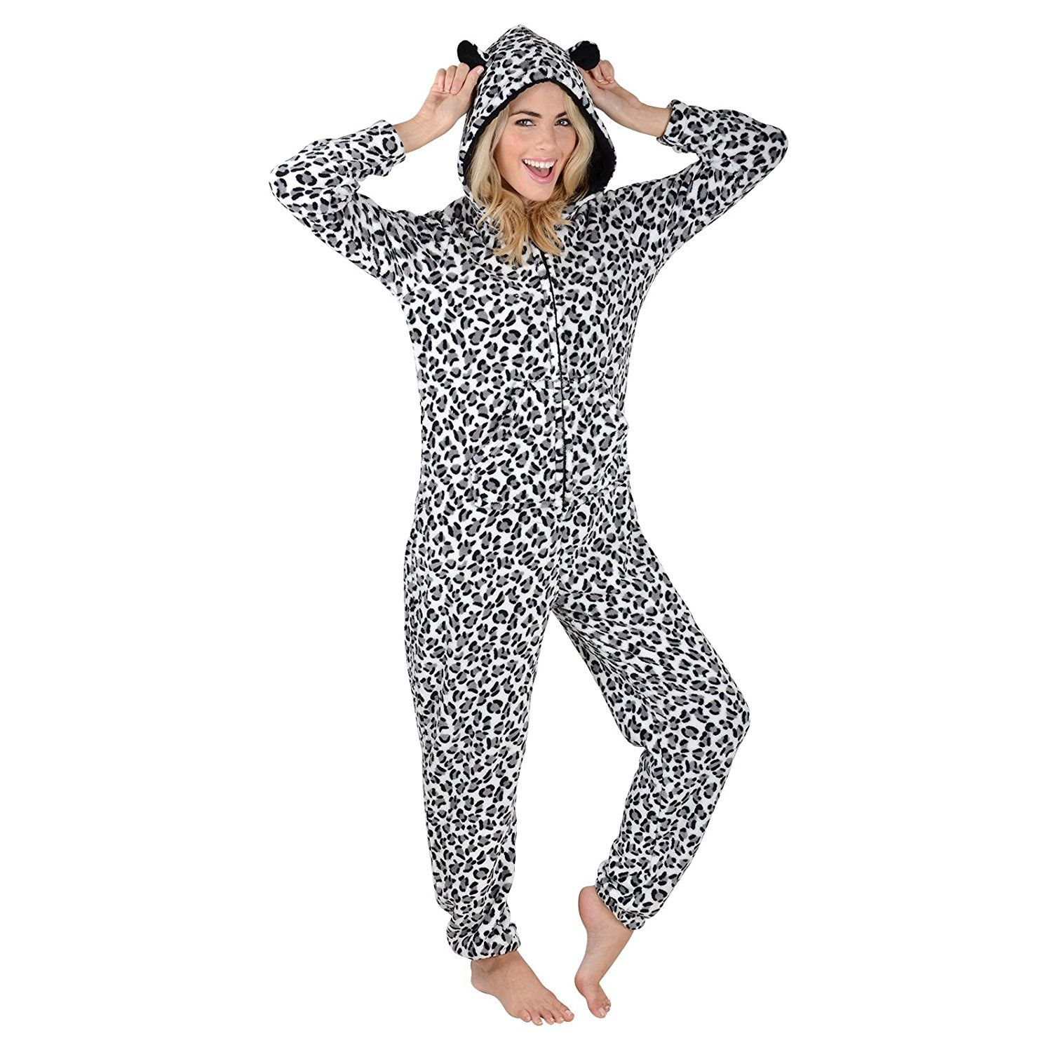 Autumn Faith Ladies Fleece All In One Piece Pyjamas Jump Sleep Suit Onesie  PJS Nightwear New 9c3d940a1