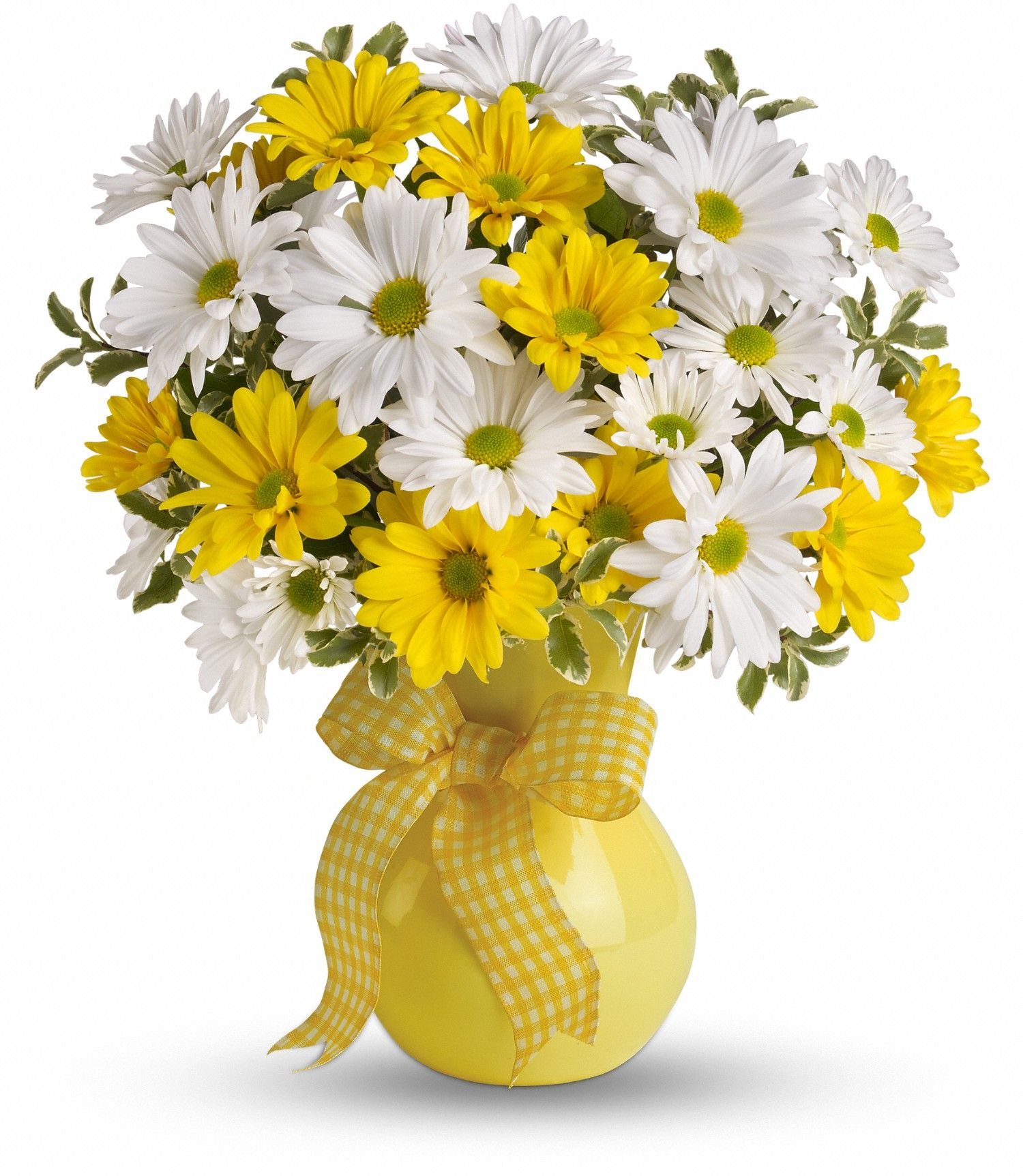 Classic yellow white daisy bouquet white daisy bouquet