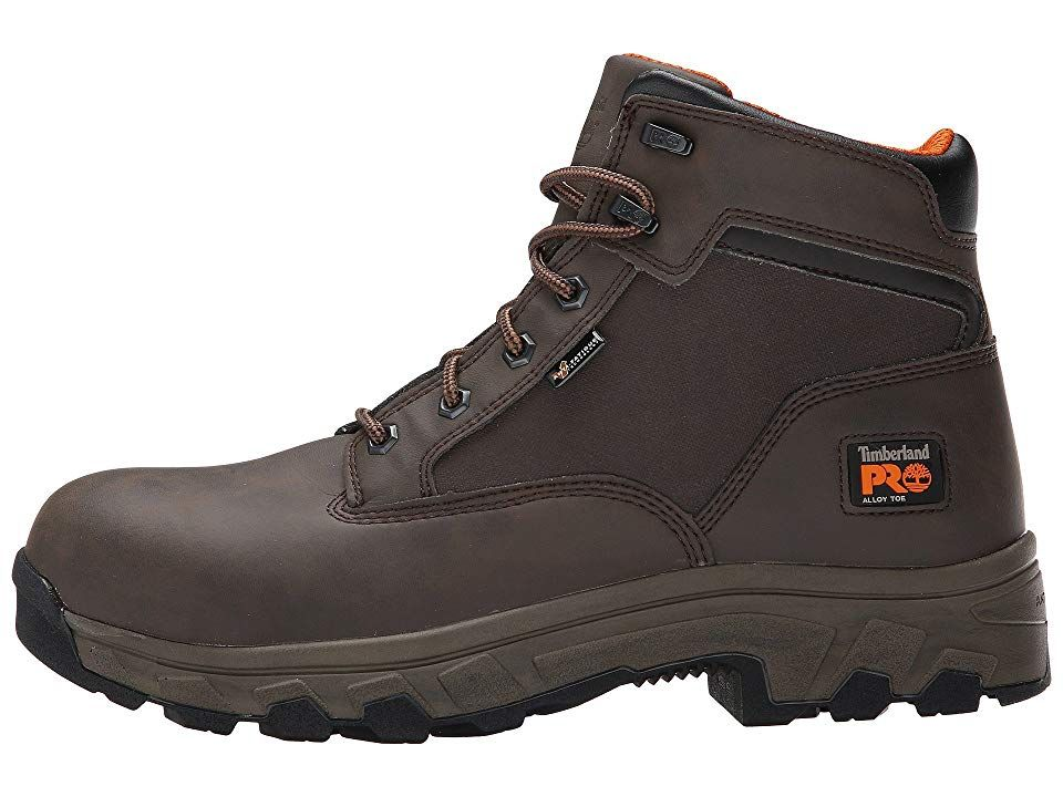 799fb89382d Timberland PRO 6 Linden Alloy Safety Toe Men's Work Boots Brown ...