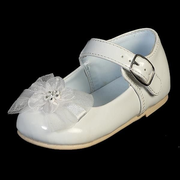 Joyce Baby Girl Shoes With Bow | White