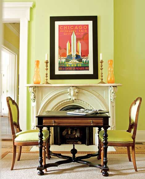 Decorating Rooms with Green Palettes Traditional Home