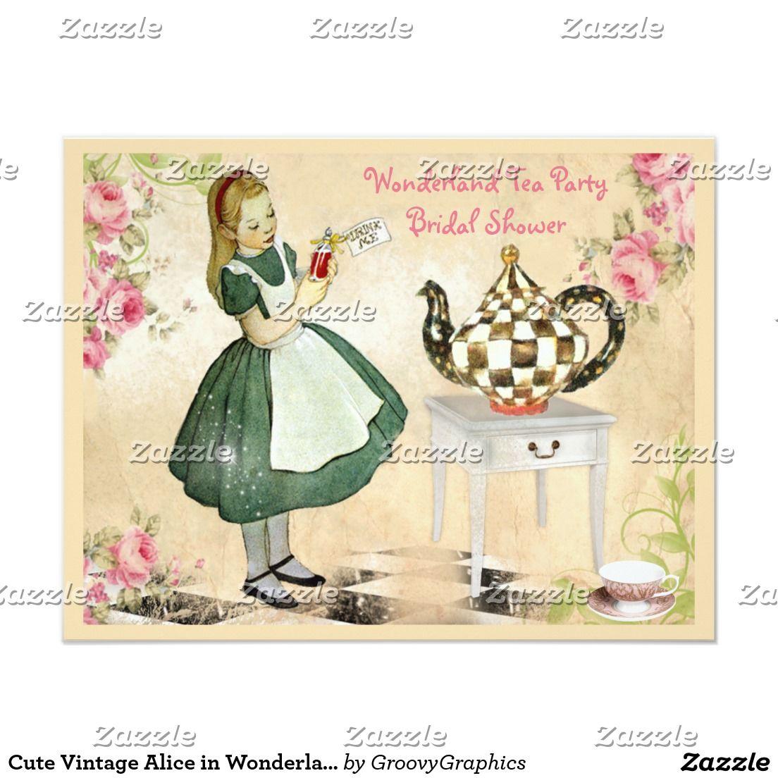 Alice in wonderland themed wedding dress  Cute Vintage Alice in Wonderland Bridal Shower  WEDDING BRIDAL