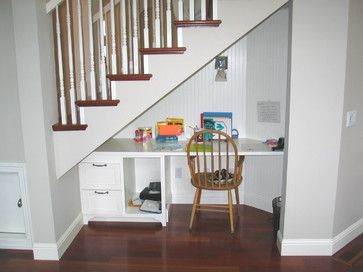 Charming Home Office Under Stairs Design Ideas, Pictures, Remodel And Decor