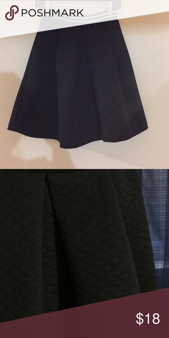 BLACK • Quilted Skater Skirt - swing - varsity Like new. From Charlotte Russe. ⚜bundle and save ⚜prices are not firm, but I won't accept half off ⚜NO try-ons 🌺college girl saving up for tuition and toddler 👶🏽 ❌NO holds Urban Outfitters Skirts