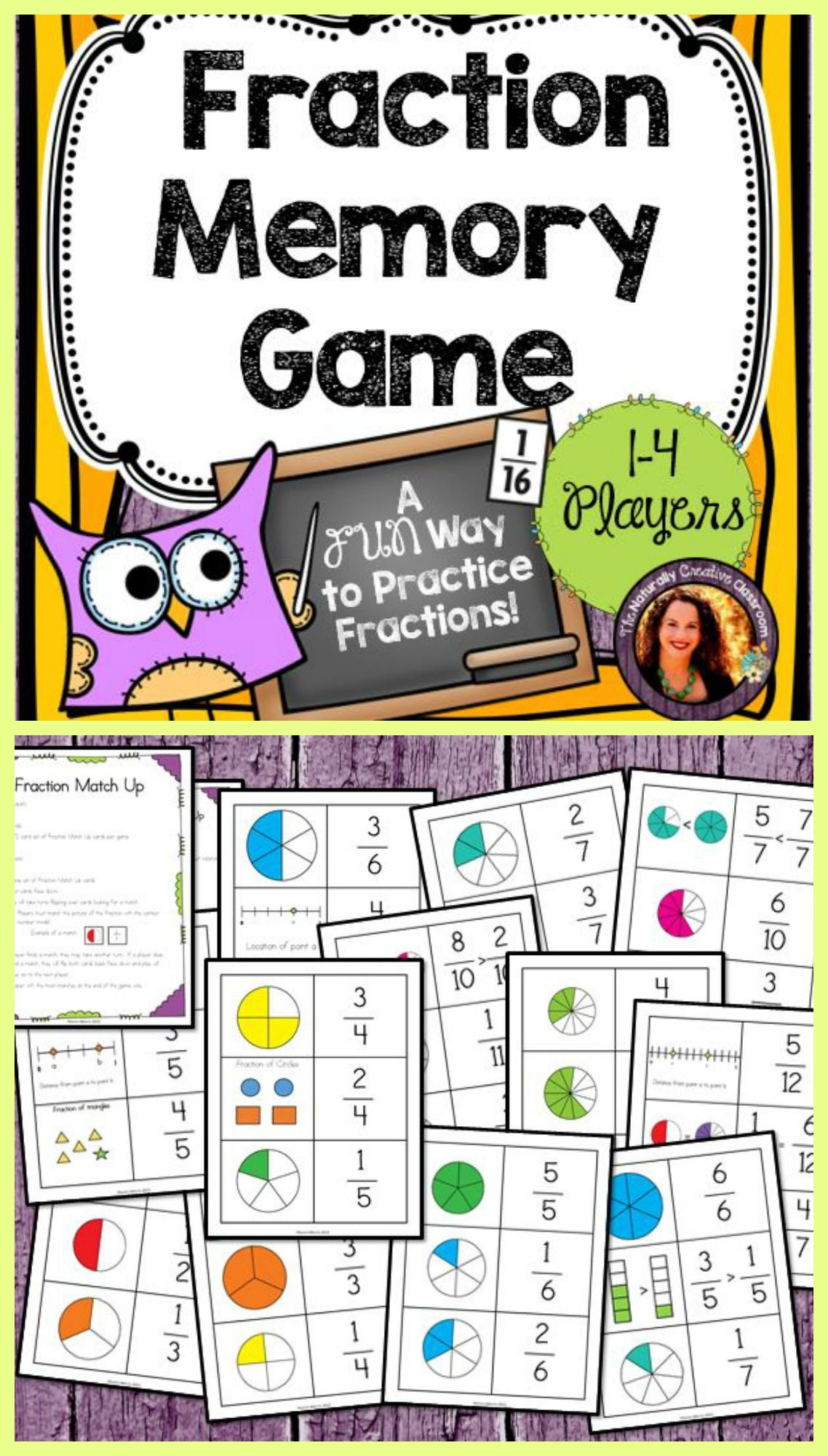 Fraction Memory Game Memory games, Fractions, Memories