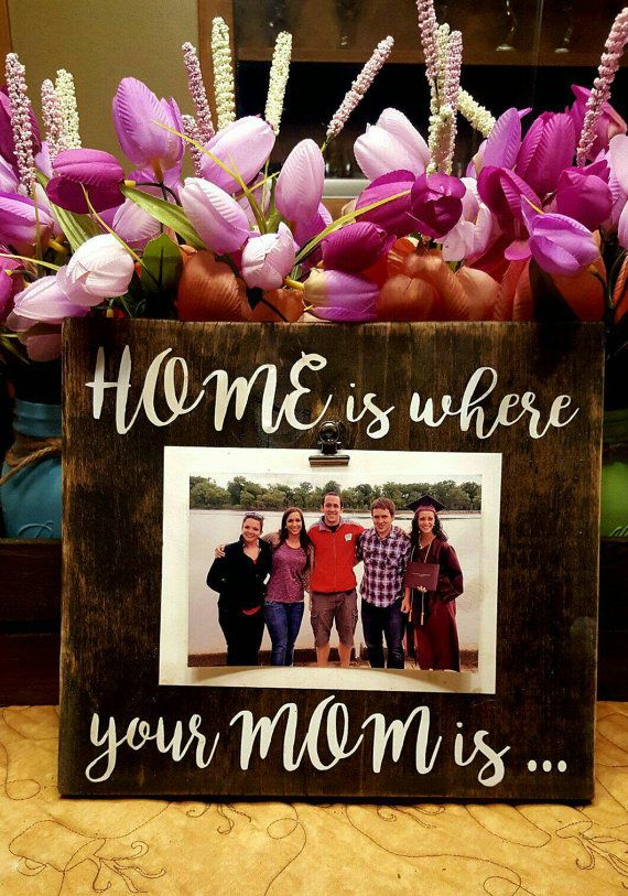 "Mother Picture Frame, Mother's Day Gift, ""Home is where"