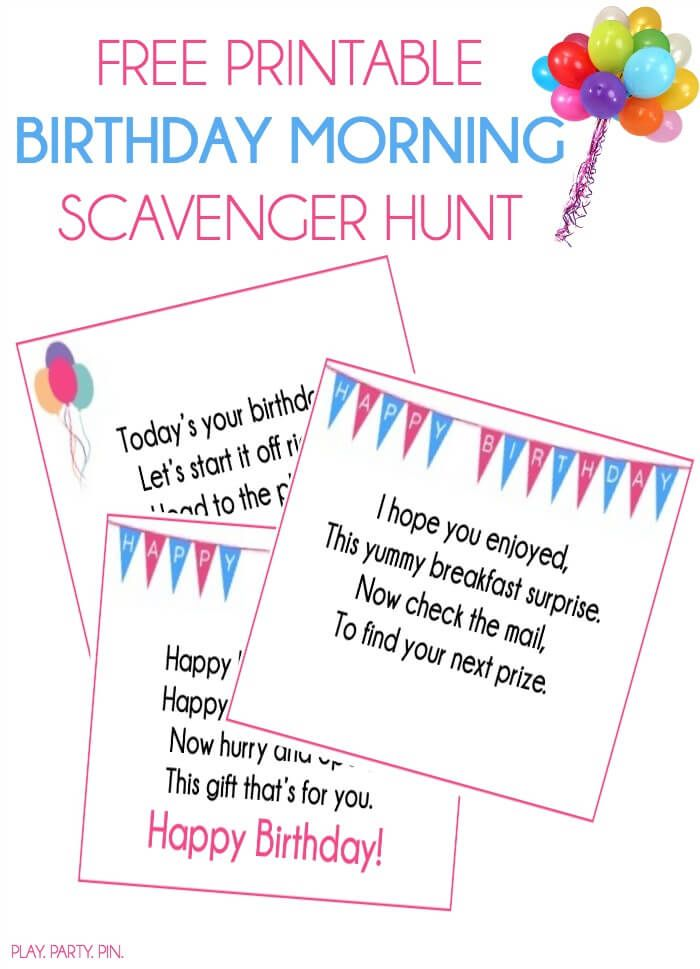 This Birthday Scavenger Hunt Sounds Like Such A Fun Way To Wake Someone Up On Their Love It