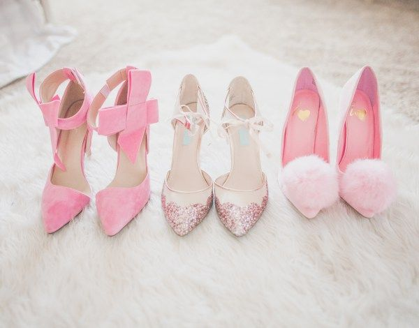 pom pom heels, pink heels , bow heels. pink bow, pink glitter, pink glitter heels