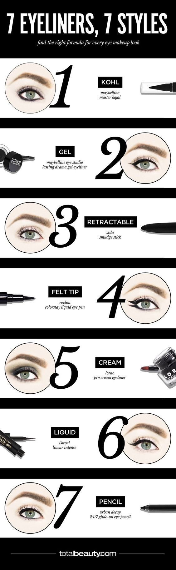 The Best Eyeliner for Your Cat Eye Rocker Smudge or Graphic Flick