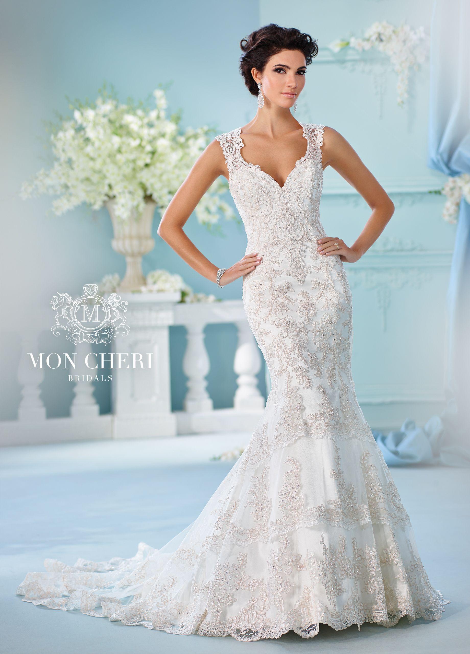 Slim fit wedding dresses  Double Keyhole Back Bodice  NeridaWedding Dress David Tutera