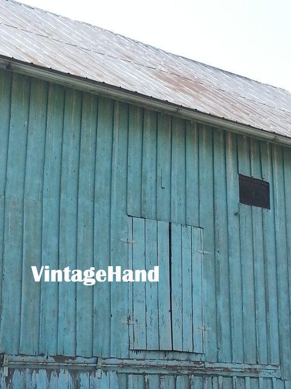 Best Turquoise Barn Digital Download Vintage Teal Painted 400 x 300
