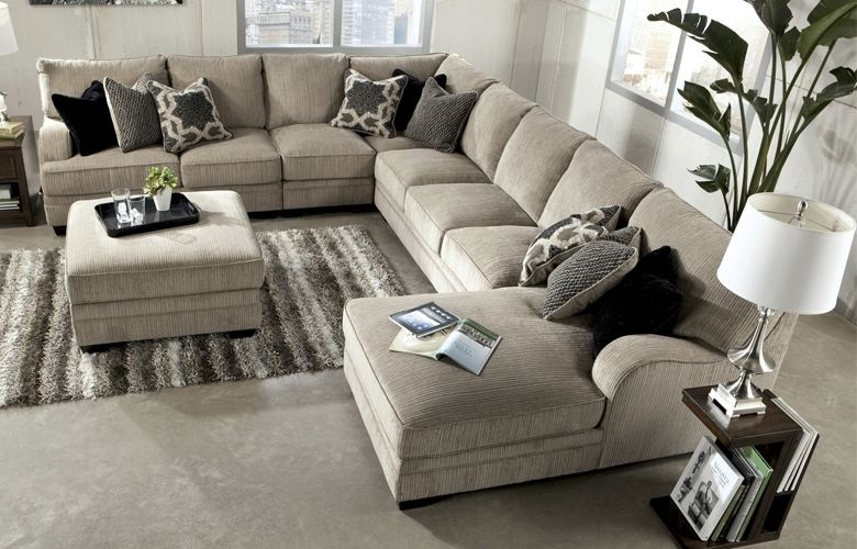 Living Room  HOM Furniture  Sectional sofa with chaise