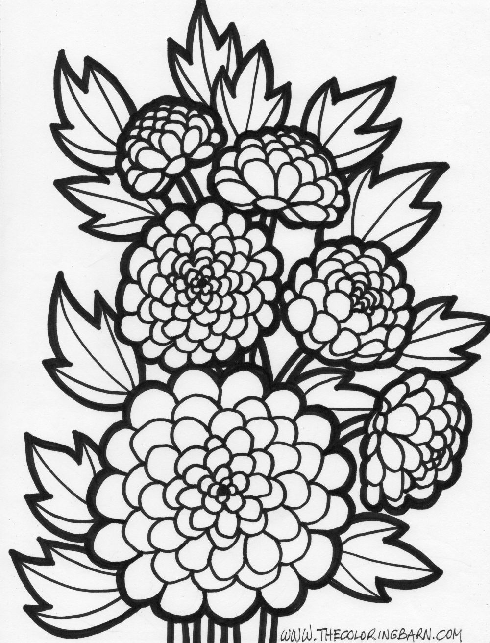 Printable coloring pages for adults flowers - Flower Flower Coloring Page