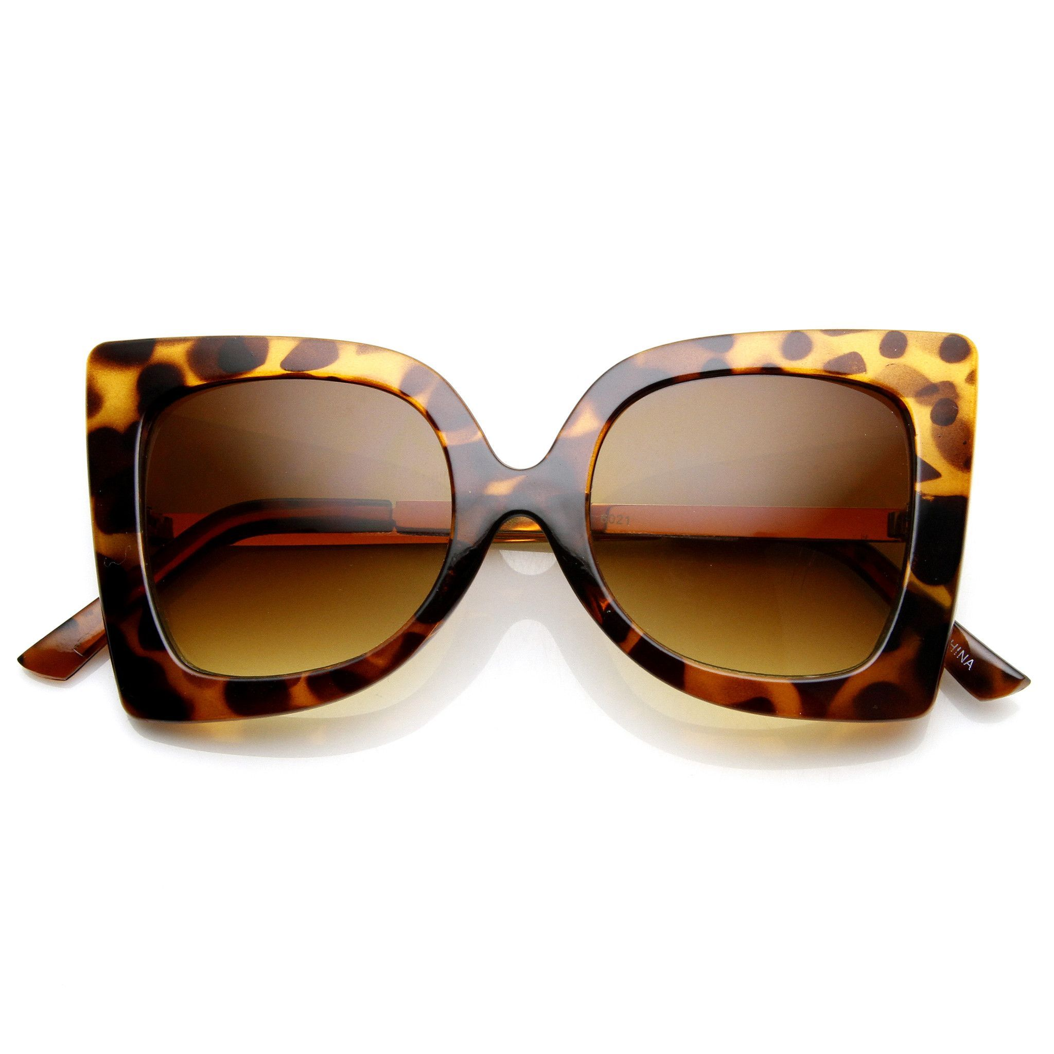 783fee5612370 Womens Oversize Fashion Butterfly Shape Sunglasses 9225   Óculos ...