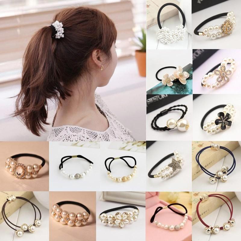 Fashion Women Rhinestone Crystal Bead Hair Band Hairband Elastic Headband Accessories Useful and Practical