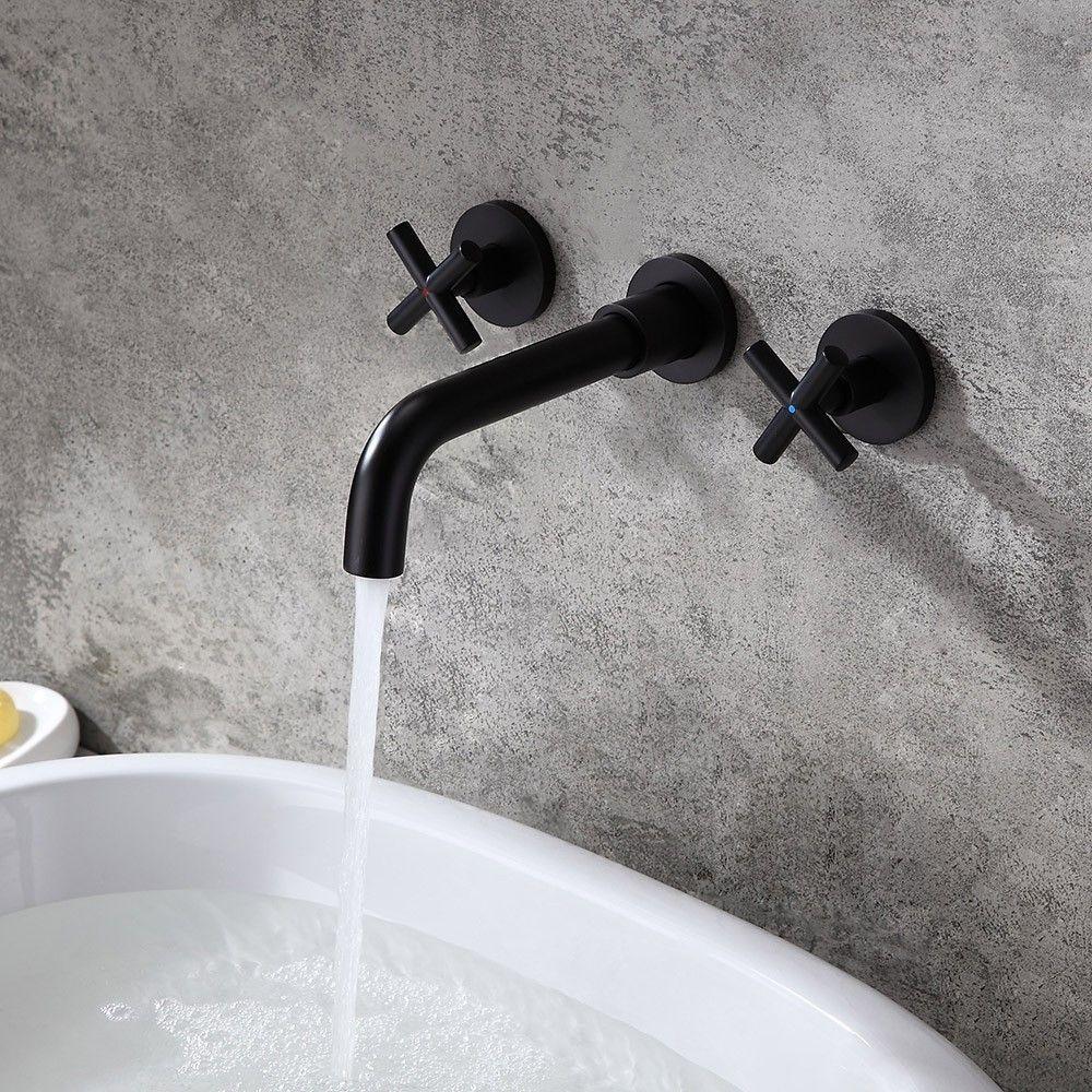 cross handles brass bathroom