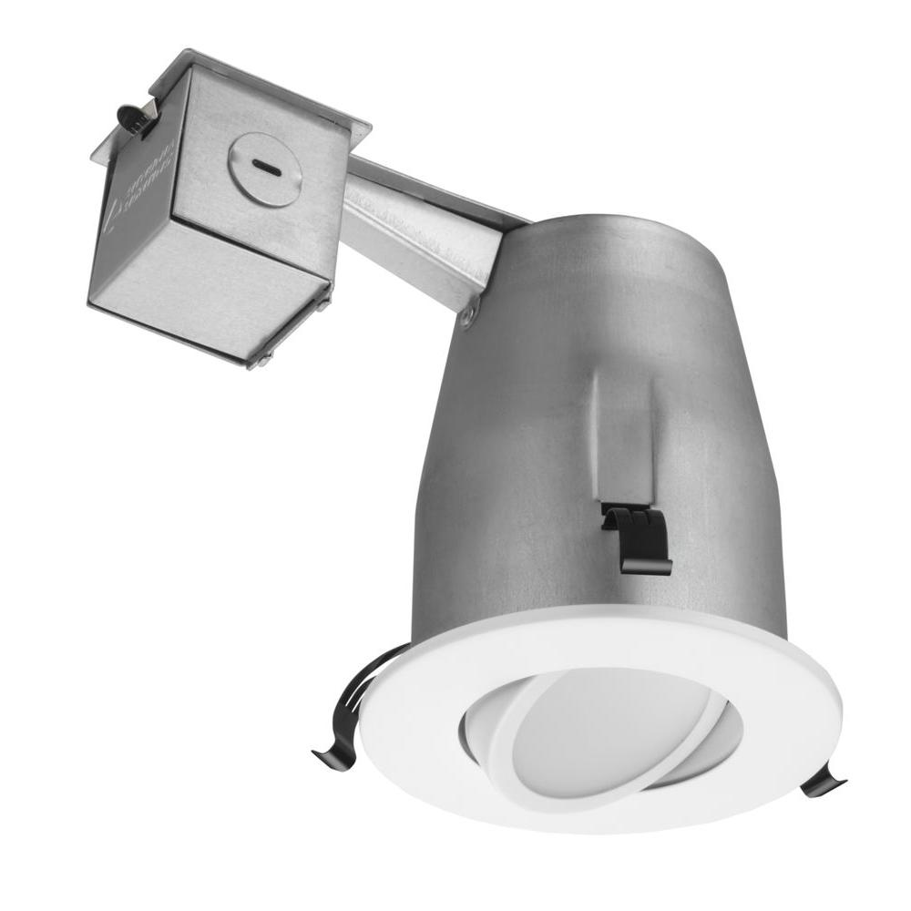 Commercial Electric Ultra Slim 4 In Selectable Cct Canless Color Integrated Led Recessed Light Trim Downlight 650 Lumens Dimmable 53808101 The Home Depot Commercial Electric Downlights Recessed Lighting