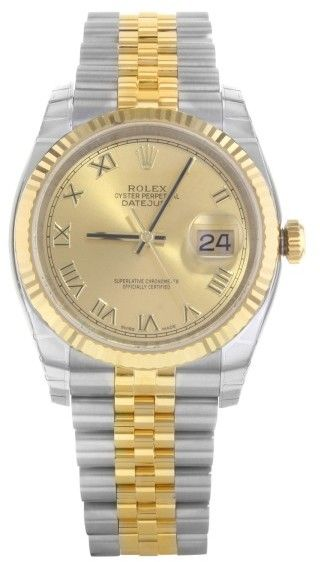 c6eb8531c0c98 Rolex Datejust 116233 chrj 18K Yellow Gold   Stainless Steel Automatic 36mm Mens  Watch