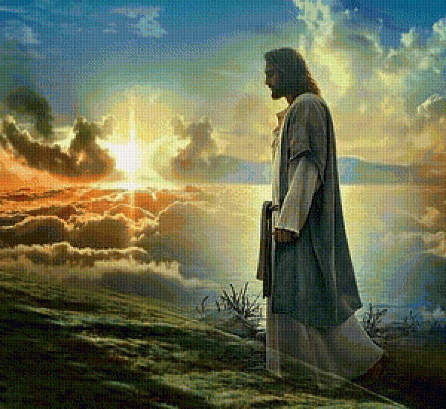 картинка иисус смотрит на землю губами мне, без