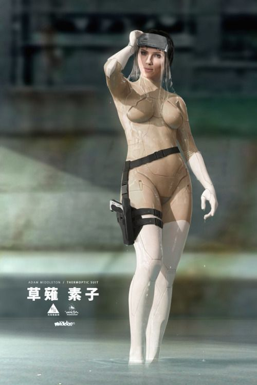 Artstation Ghost In The Shell Thermoptic Suit By Adam Middleton Ghost In The Shell Weta Workshop Scarlett Johansson Ghost