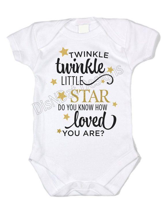 c838e2ff0 Twinkle Twinkle Little Star infant bodysuit, custom bodysuit, boy or ...